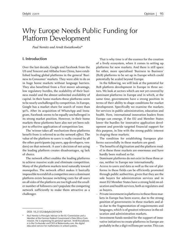 Delphi - Interdisciplinary Review of Emerging Technologies